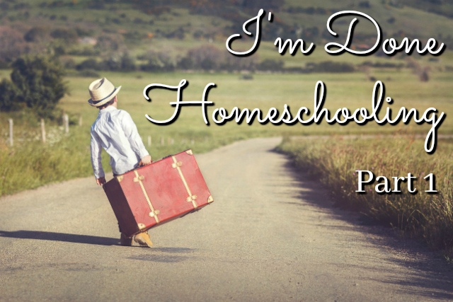 Frustrated with Homeschooling?